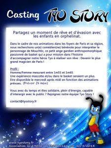 casting mouchtic Association Tyo Story Animations pour les enfants des orphelinats paris ile de france